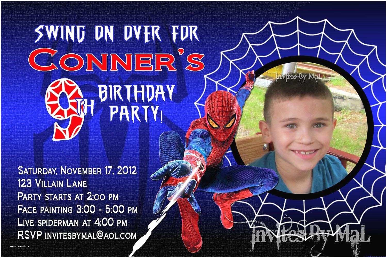 Glamorous Party Invitation Wow Spiderman Birthday Party Invitation Templates