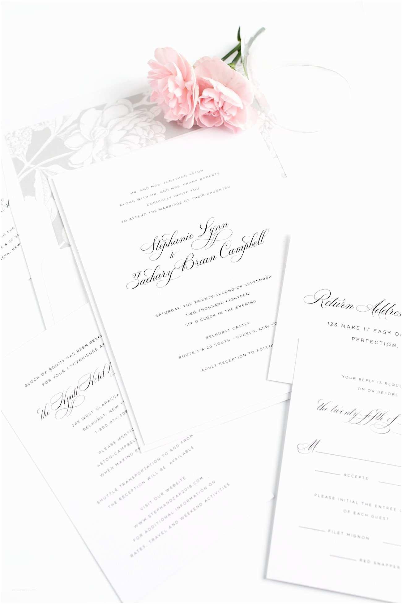 Glamorous Wedding Invitations Delicate Wedding Invitations In Silver – Wedding Invitations