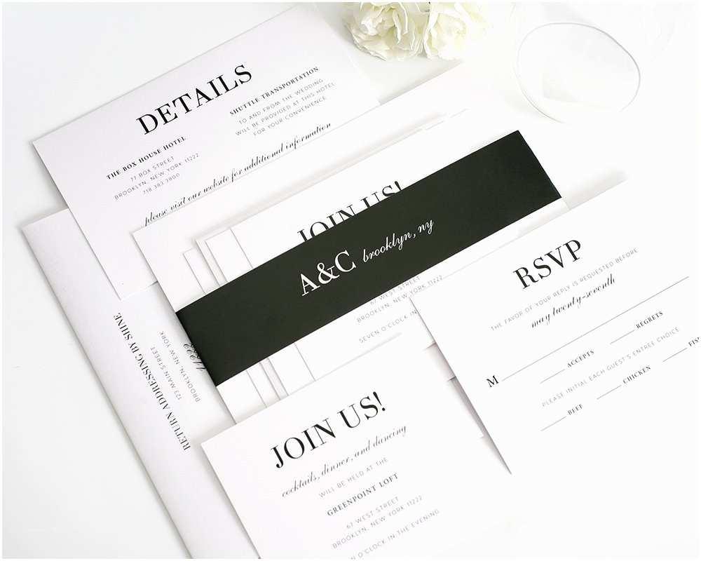 Glamorous Wedding Invitations Glamorous Black and White Wedding Invitations – Wedding