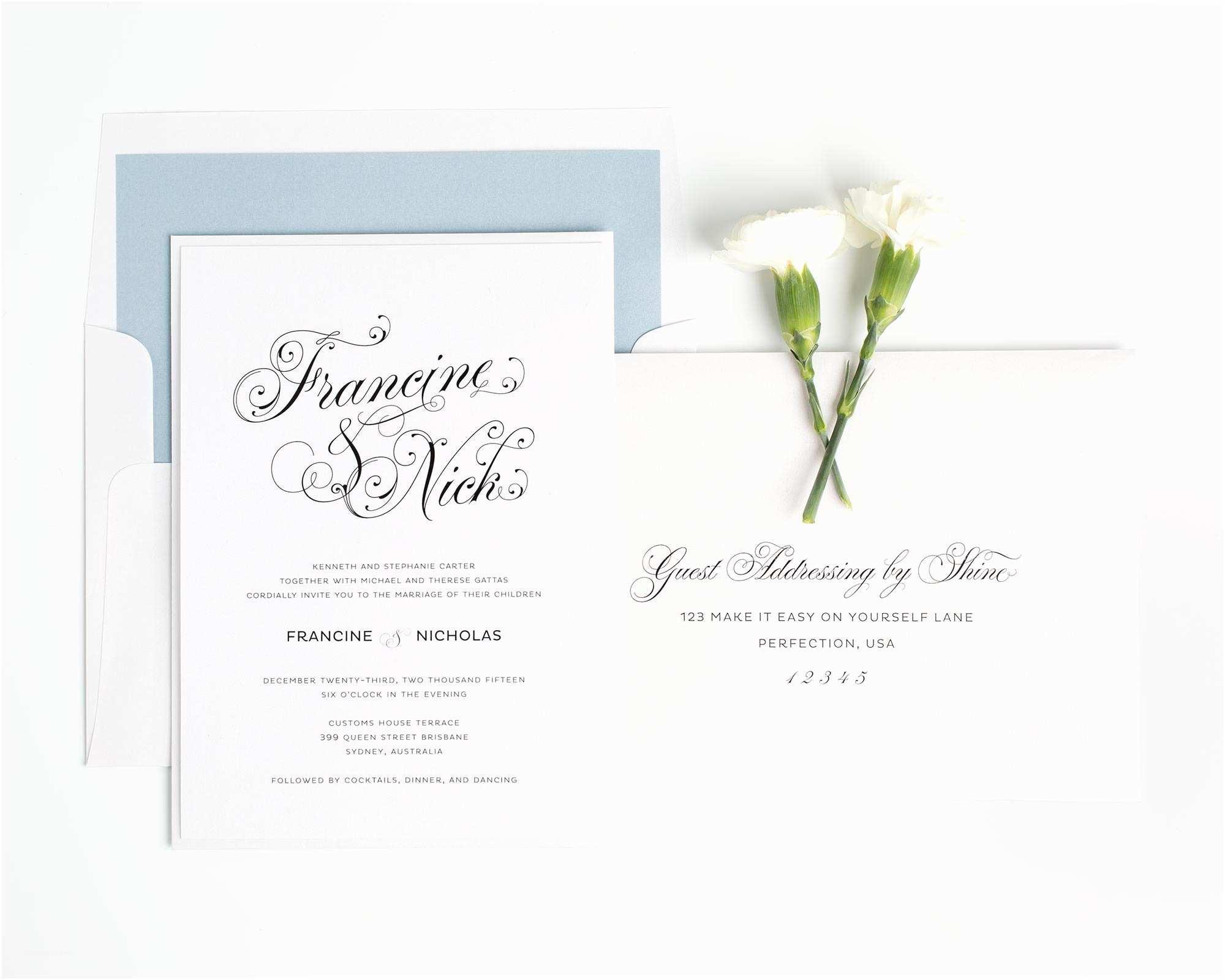 Glamorous Wedding Invitations Glamorous Wedding Invitations In Dusty Blue – Wedding