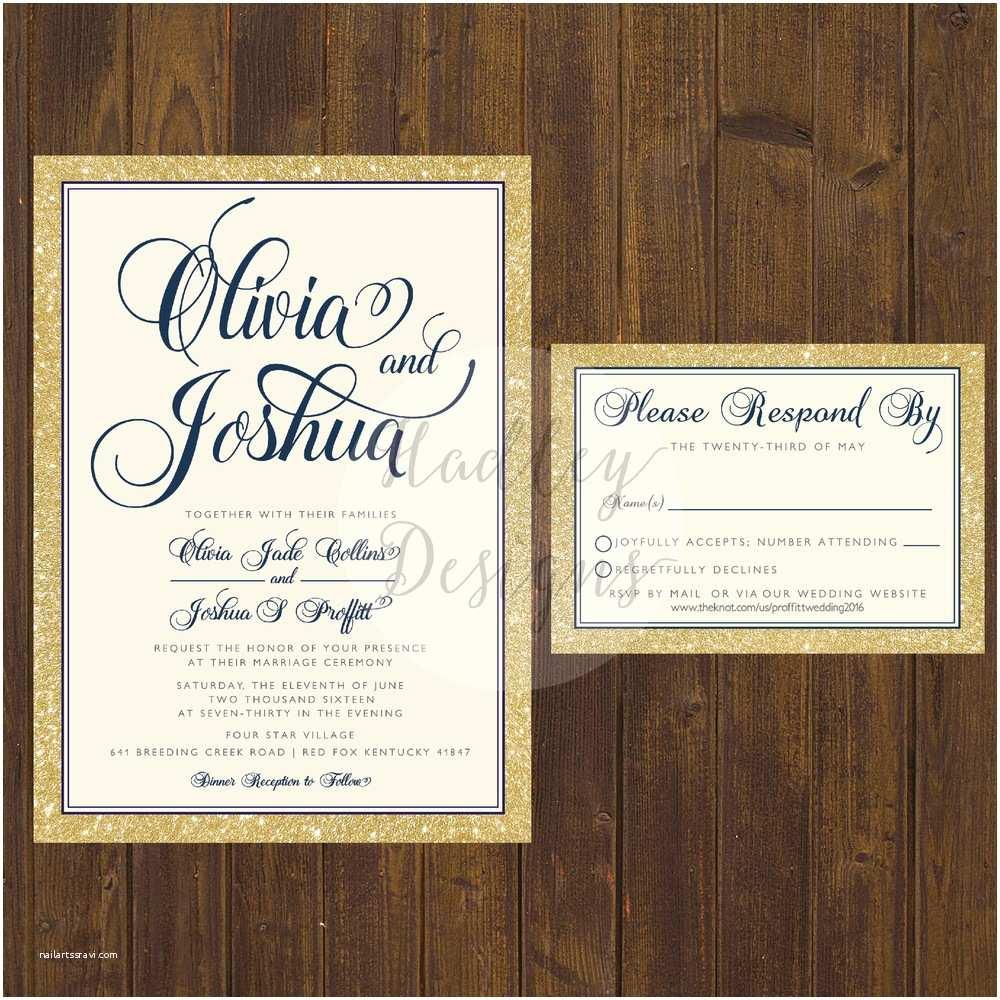 Glamorous Wedding Invitations Hadley Designs Elegant Classic