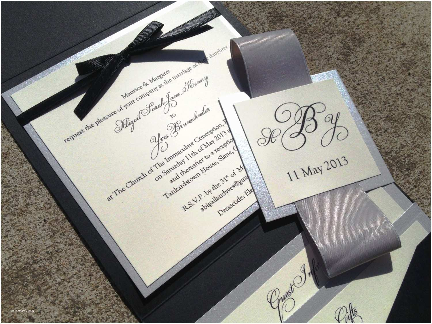 Glamorous Wedding Invitations Wedding Invitations Elegant — Criolla Brithday & Wedding