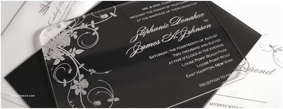 Glass Wedding Invitation Cards Acrylic Wedding Invitations & Accessories