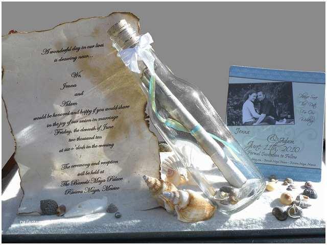 Glass Wedding Invitation Cards Message In A Bottle Wedding Invitation
