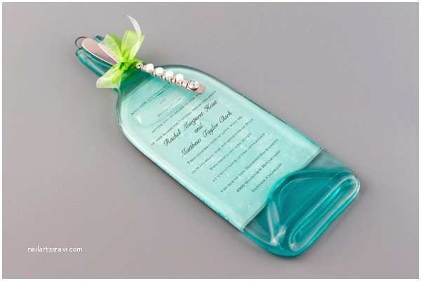 Glass Wedding Invitations Custom Cheeseboard with Wedding Invitation