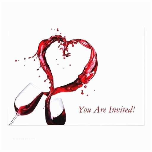 Glass Wedding Invitations Red Wine Glass Invitation Card