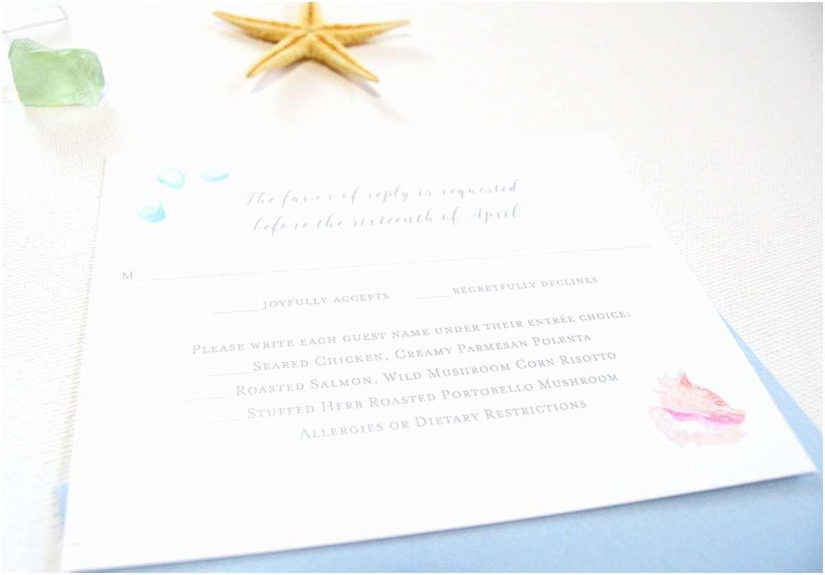 Glass Wedding Invitations Watercolor Sea Glass Beach Wedding Invitations by Artist