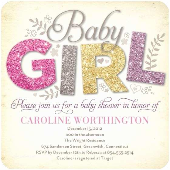 Glitter Baby Shower Invitations 1000 Ideas About Glitter Baby Showers On Pinterest