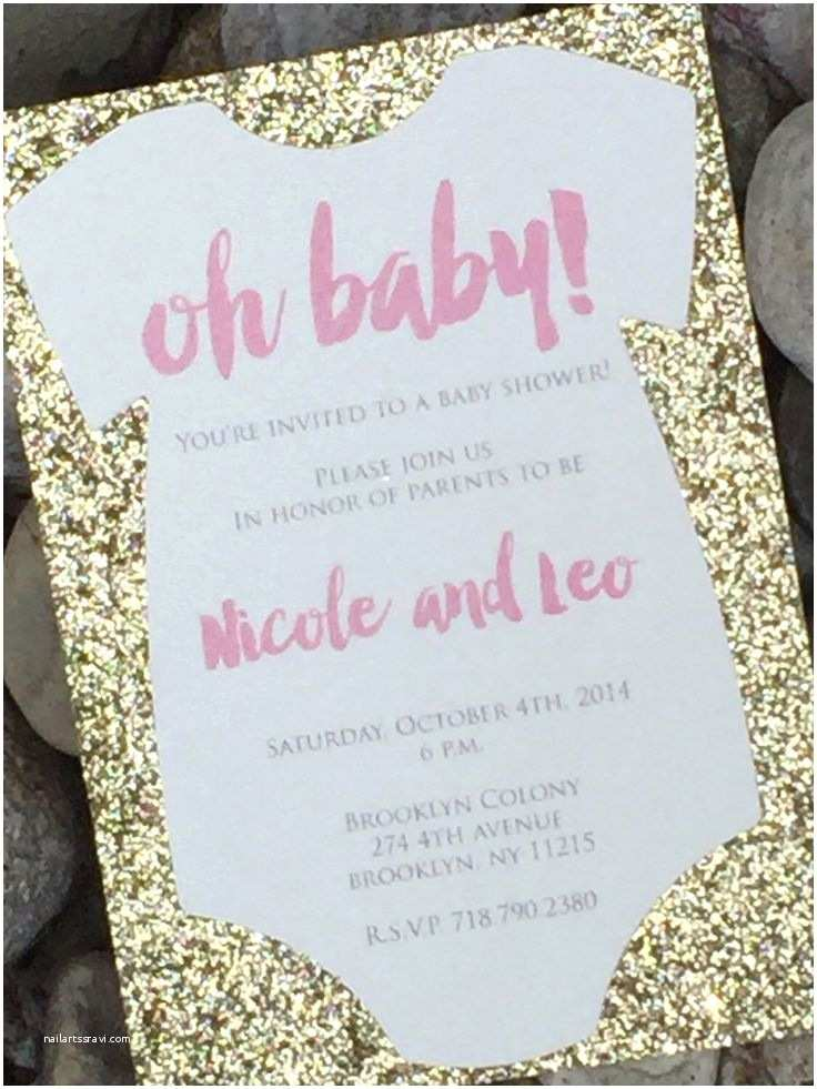Glitter Baby Shower Invitations 81 Best Pink and Gold Baby Shower Decorations Images On