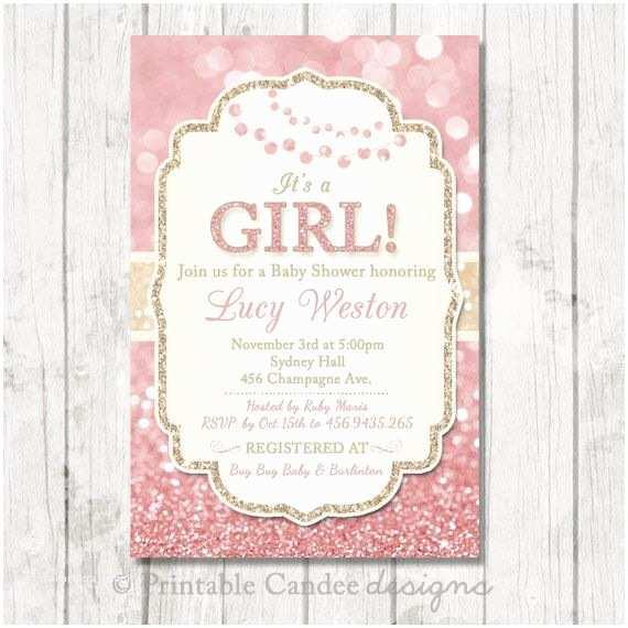 Glitter Baby Shower Invitations Best 25 Glitter Baby Showers Ideas On Pinterest