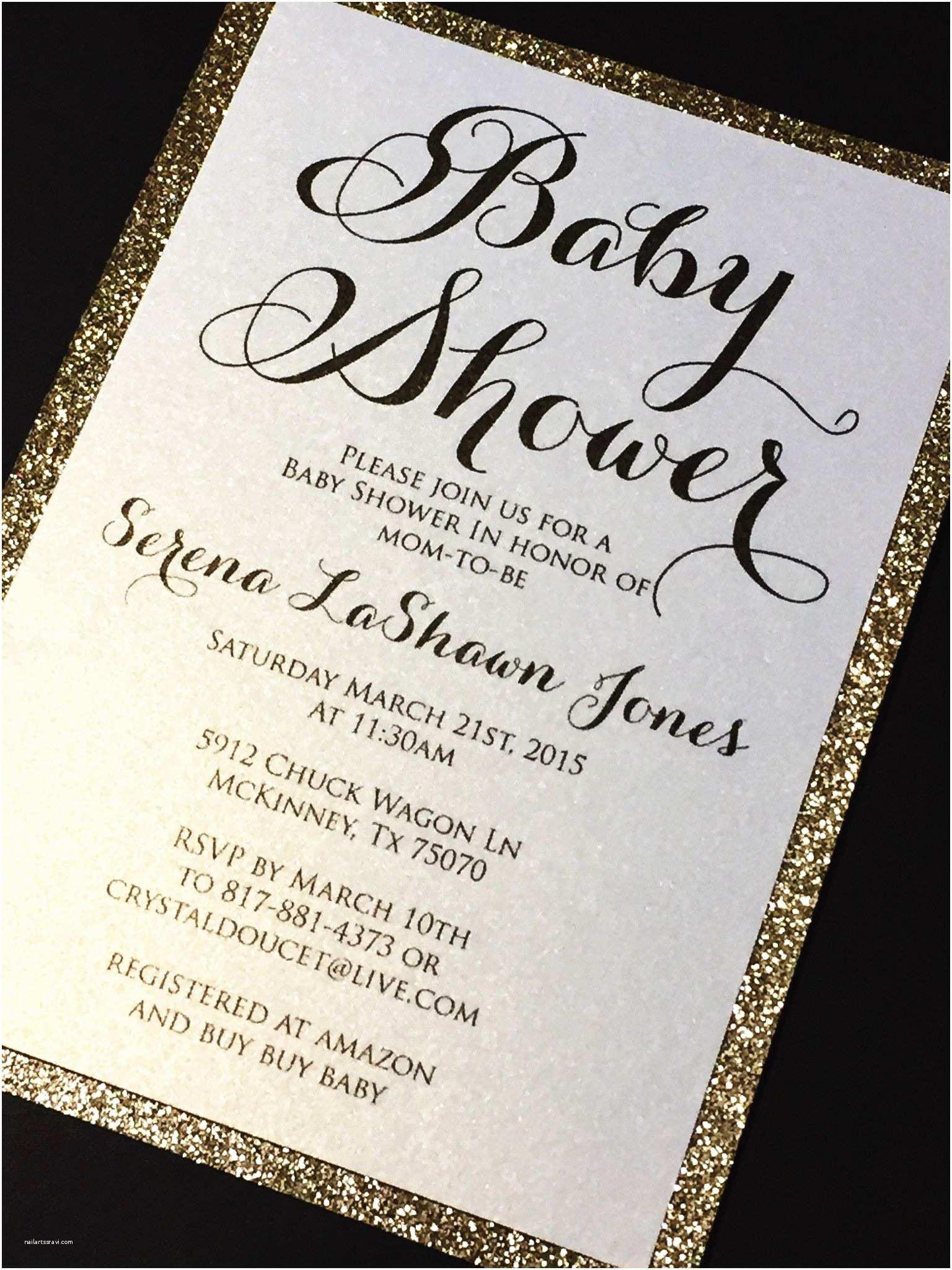 Glitter Baby  Invitations Glitter Baby  Invitations Elegant Baby