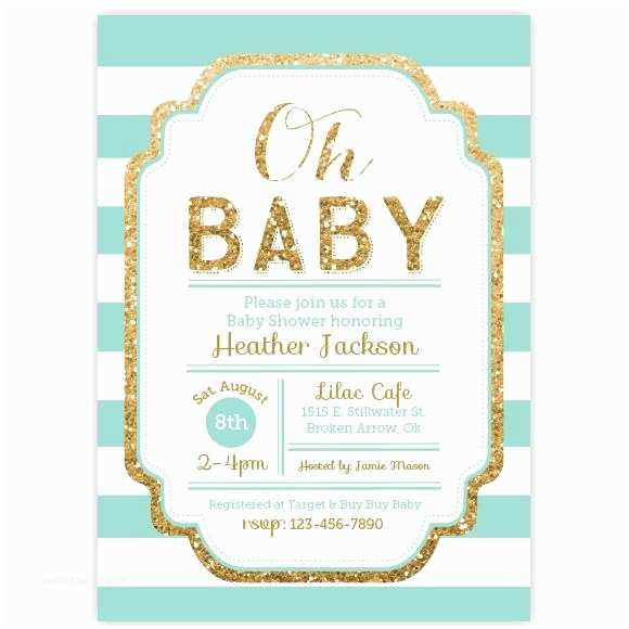 Glitter Baby Shower Invitations Pink and Gold Glitter Baby Shower Invitation Aditional