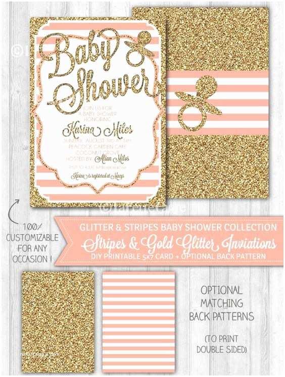 Glitter Baby Shower Invitations Pinterest • the World's Catalog Of Ideas
