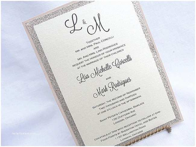 Glitter Wedding Invitations 11 Glitter Wedding Invitations