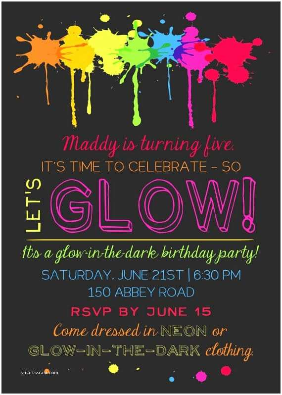 Glow In the Dark Party Invitations 20 Epic Glow In the Dark Party Ideas Pretty My Party
