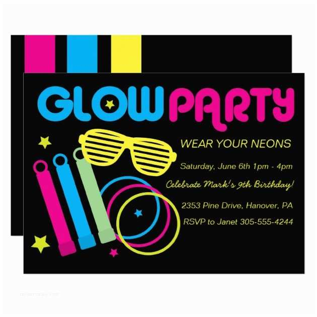 Glow In the Dark Party Invitations Glow In the Dark Party Invitations – Gangcraft