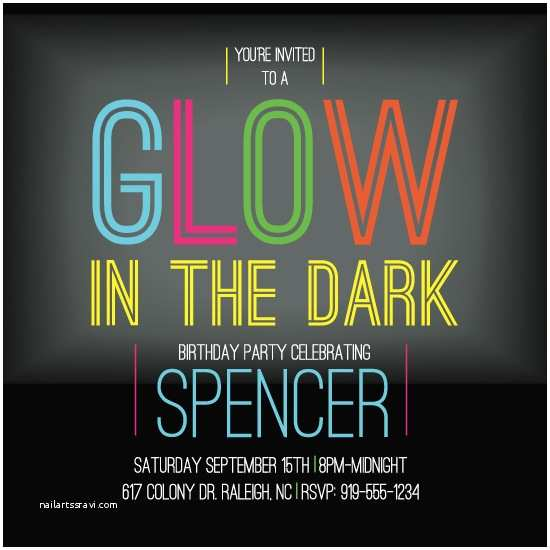 Glow In the Dark Party Invitations Party Invitations Glow In the Dark at Minted