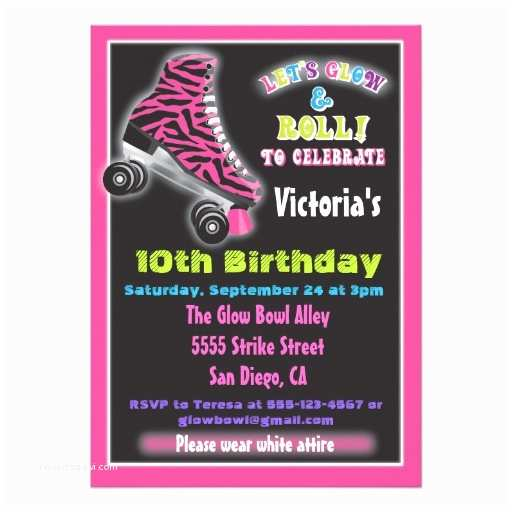 Glow In the Dark Party Invitations Personalized Glow Invitations