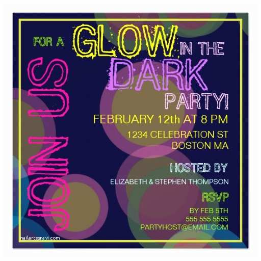 blacklight party invitationstml