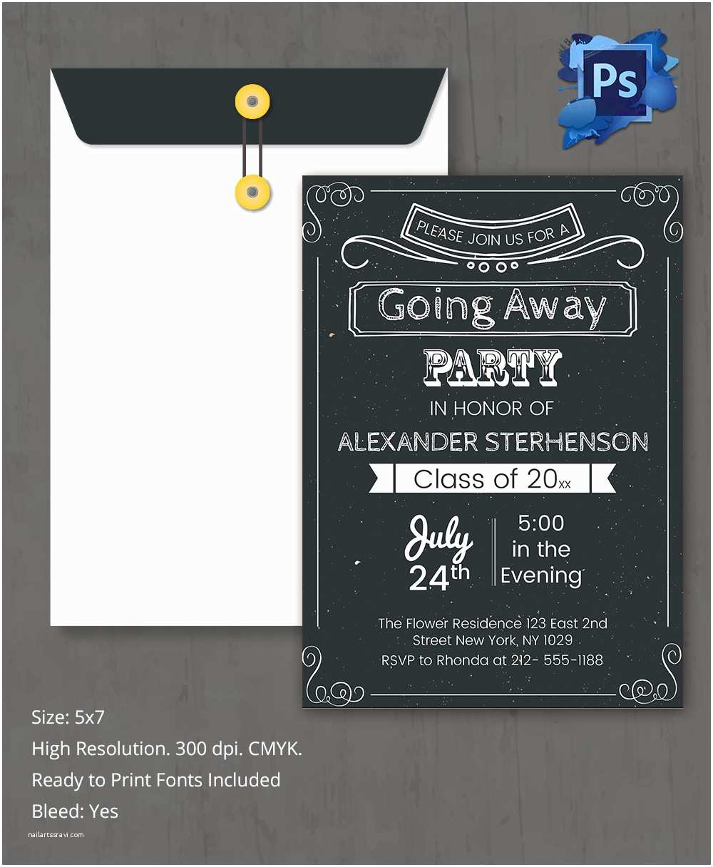 Going Away Party Invitation Farewell Party Invitation Template 26 Free Psd format
