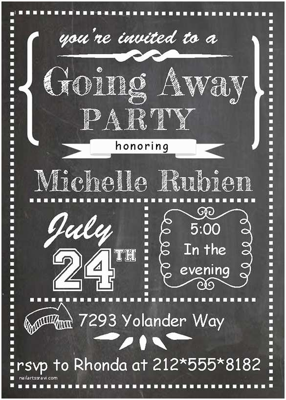 Going Away Party Invitation Farewell Party Invitation Template 29 Free Psd format