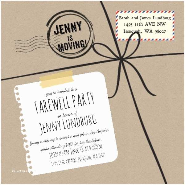 Going Away Party Invitation Farewell Party Invite
