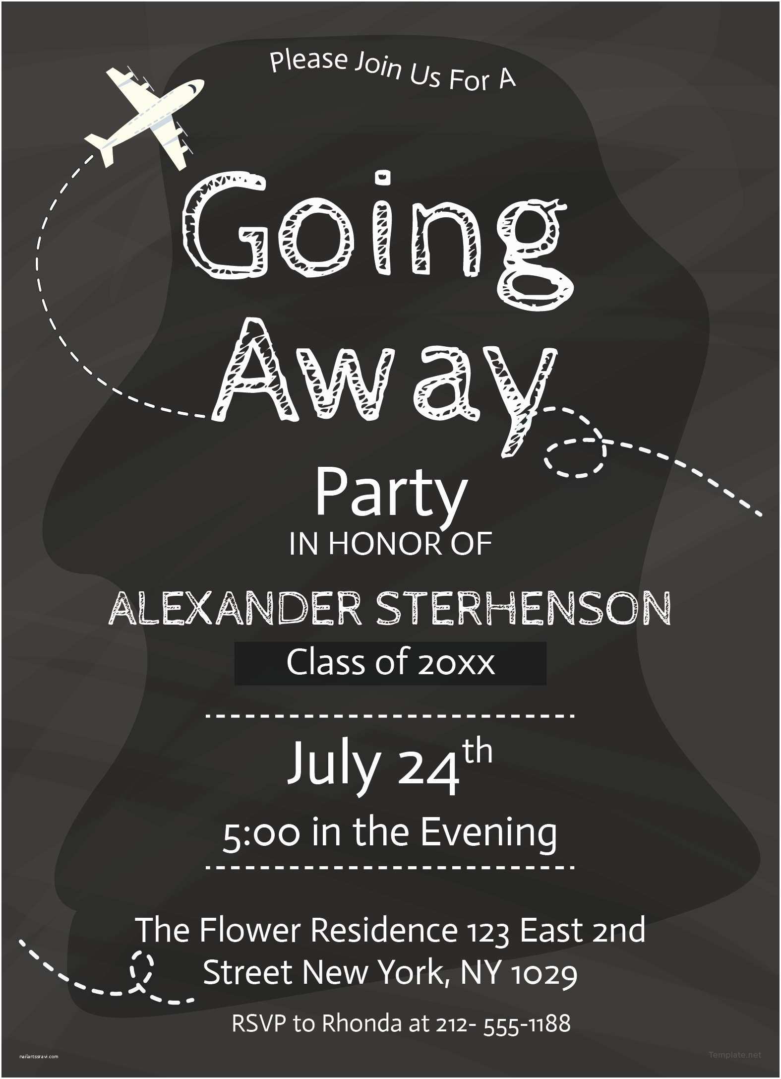 Going Away Party Invitation Free Printable Going Away Party Invitation Template In