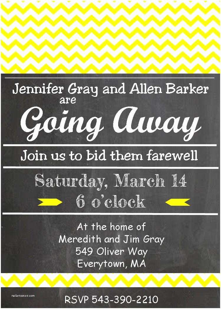 Going Away Party Invitation Going Away Party Invitations – Gangcraft