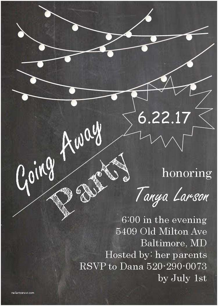 Going Away Party Invitation Going Away Party Invitations New Selections 2017