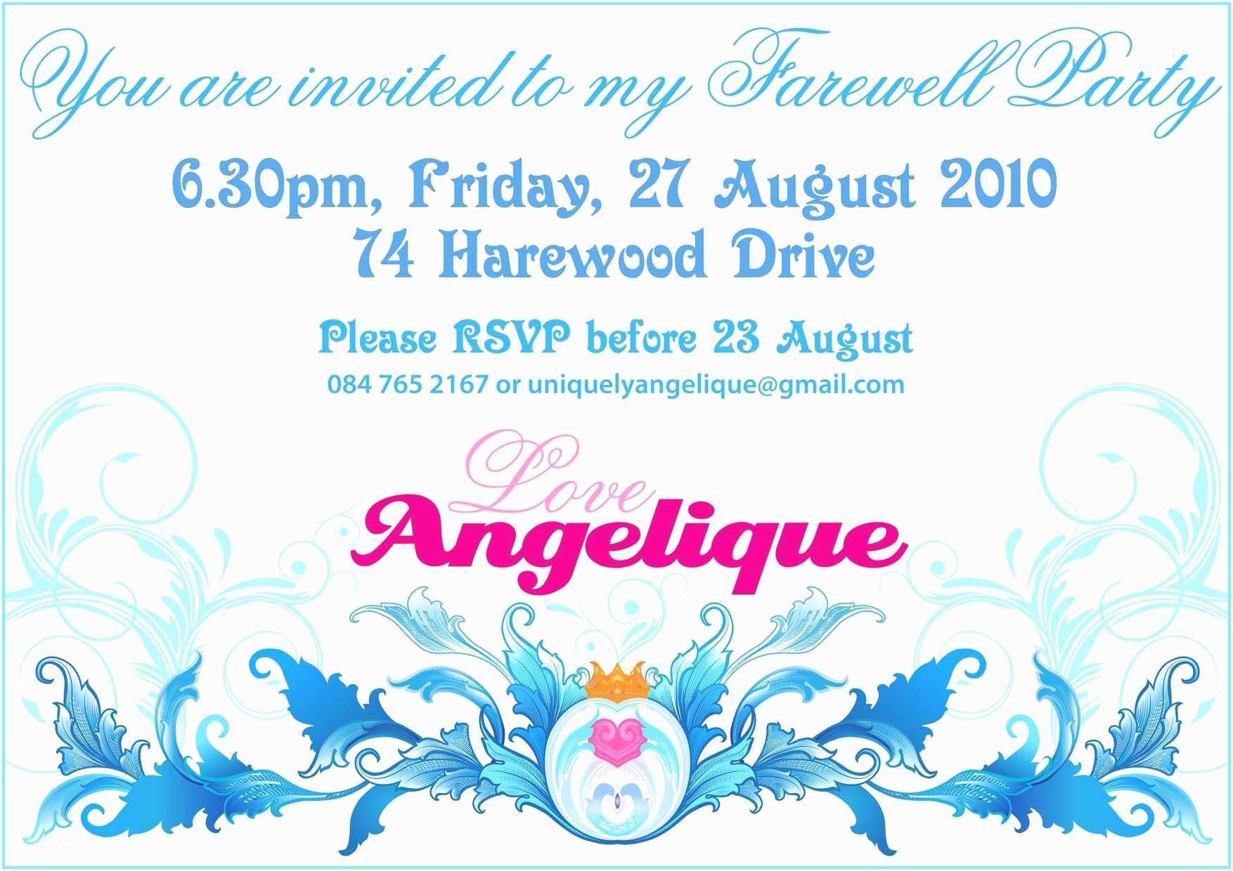 Going Away Party Invitation Going Away Party Invitations