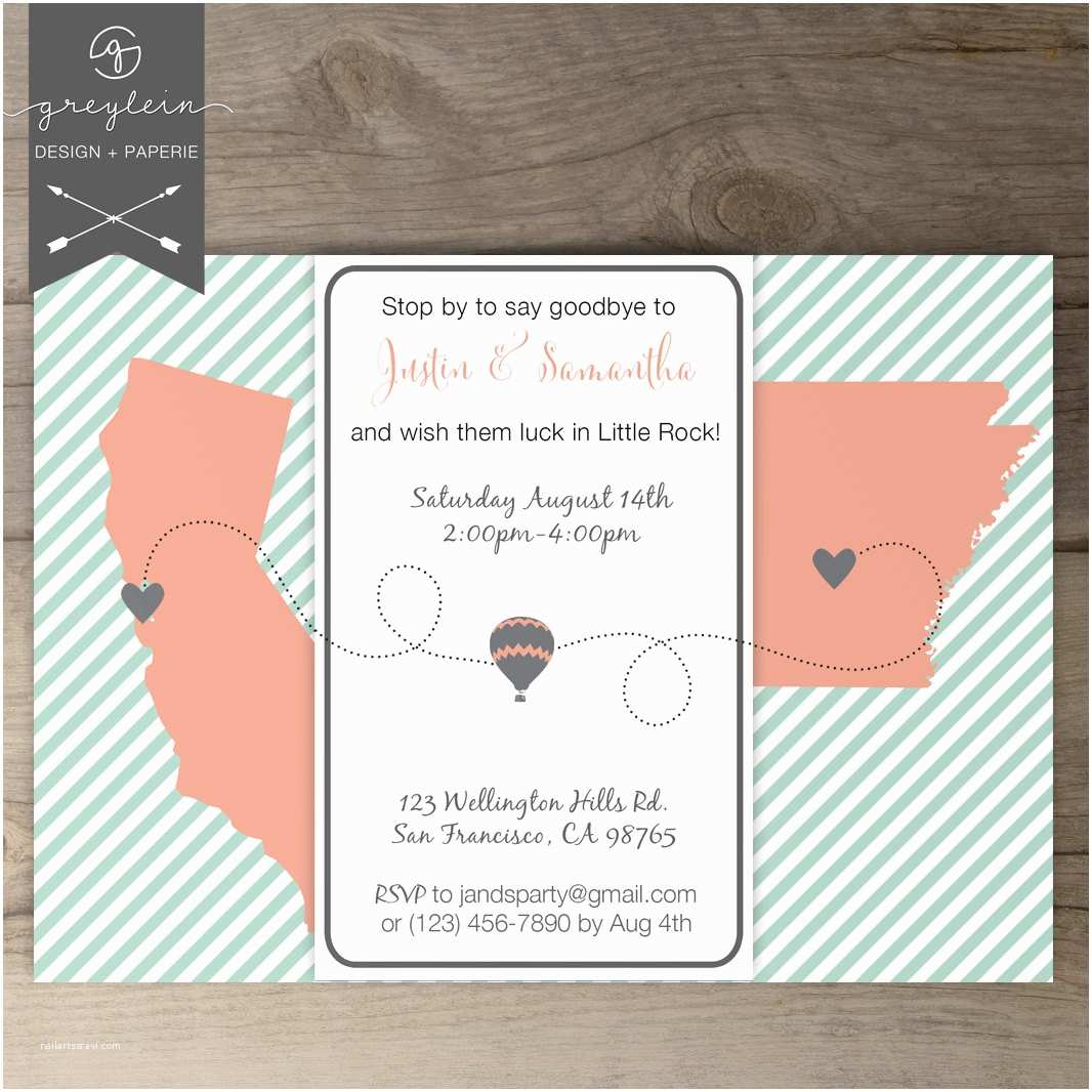 Going Away Party Invitation Moving Going Away Party Invitations Invites