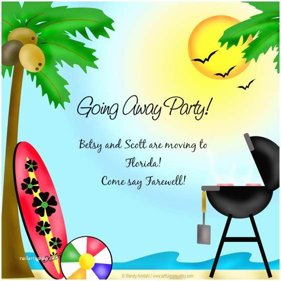 Going Away Party Invitation Template Betsy & Scott S Going Away Party Line Invitations