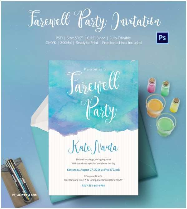 Going Away Party Invitation Template Farewell Party Invitation Template 25 Free Psd format