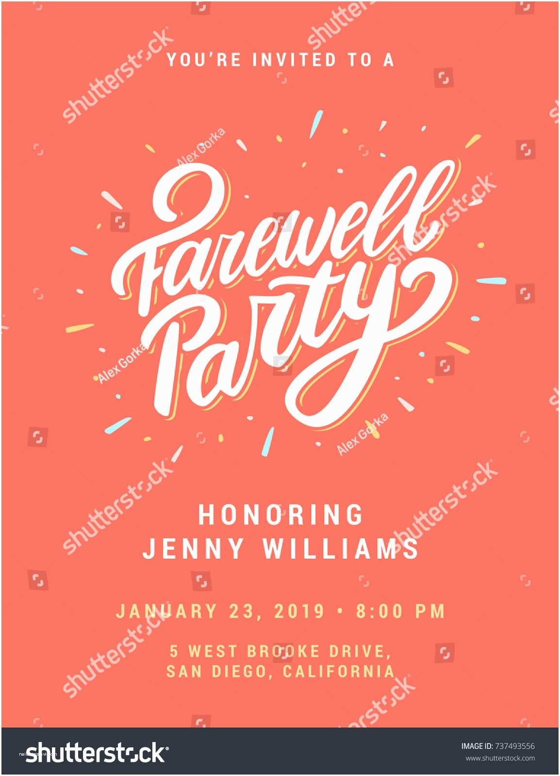 Going Away Party Invitation Template Farewell Party Invitation Template Stock V Free