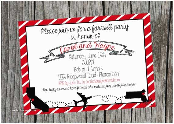 Going Away Party Invitation Template Going Away Moving Party Invitation Digital File