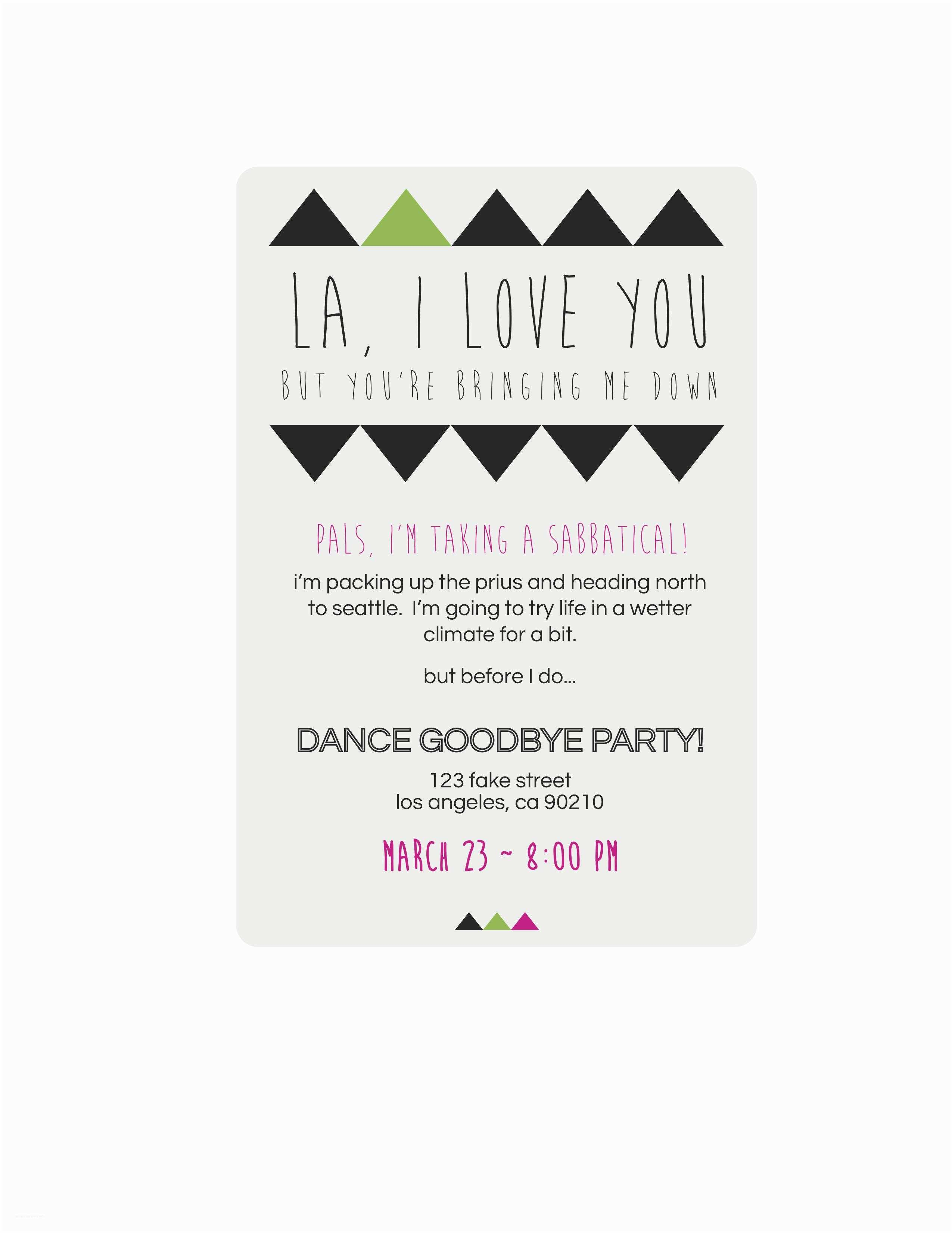 Going Away Party Invitation Template Going Away Party Invitations