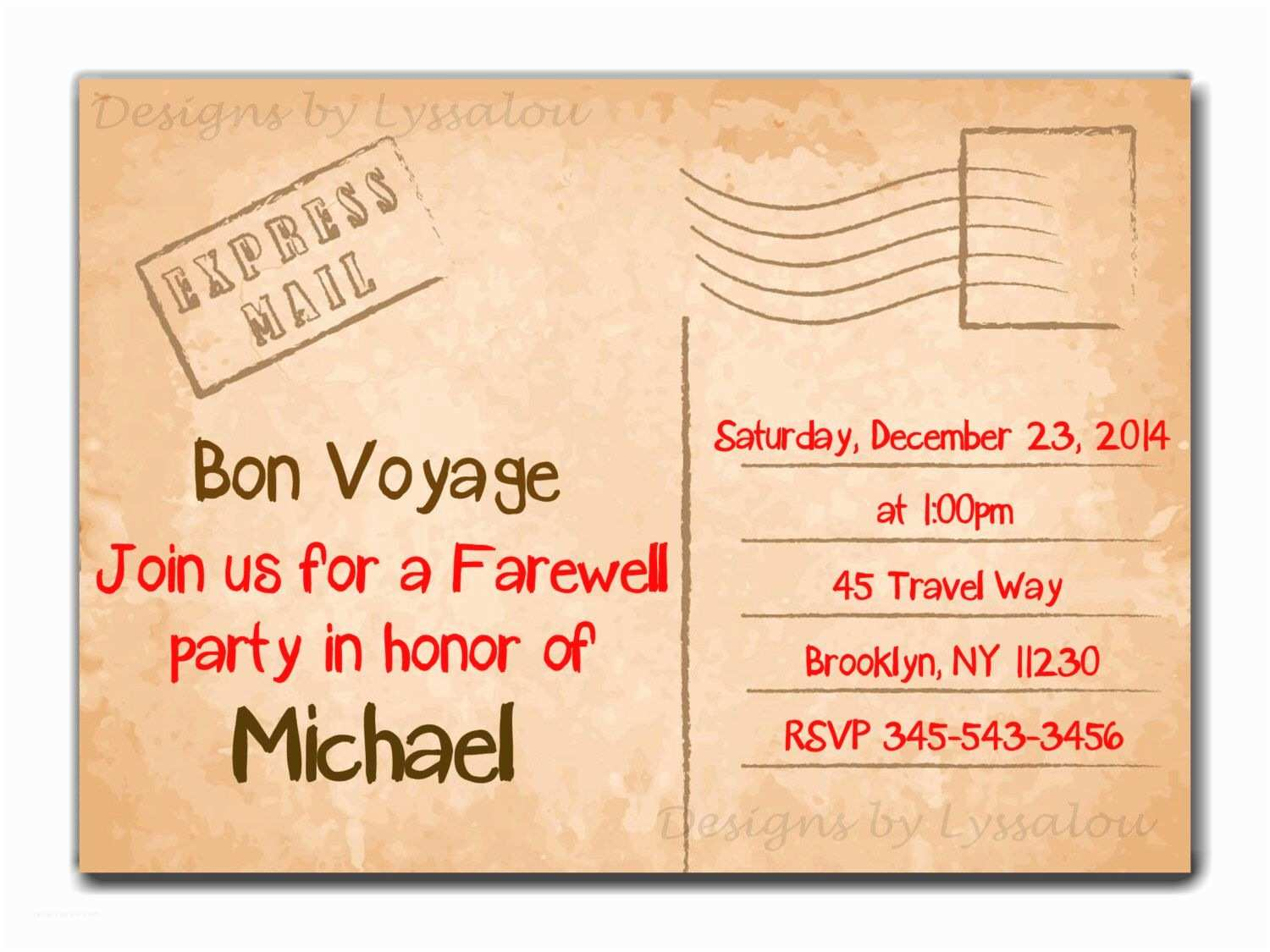 Going Away Party Invitation Template Travel Farewell Party Invitation Bon Voyage Going