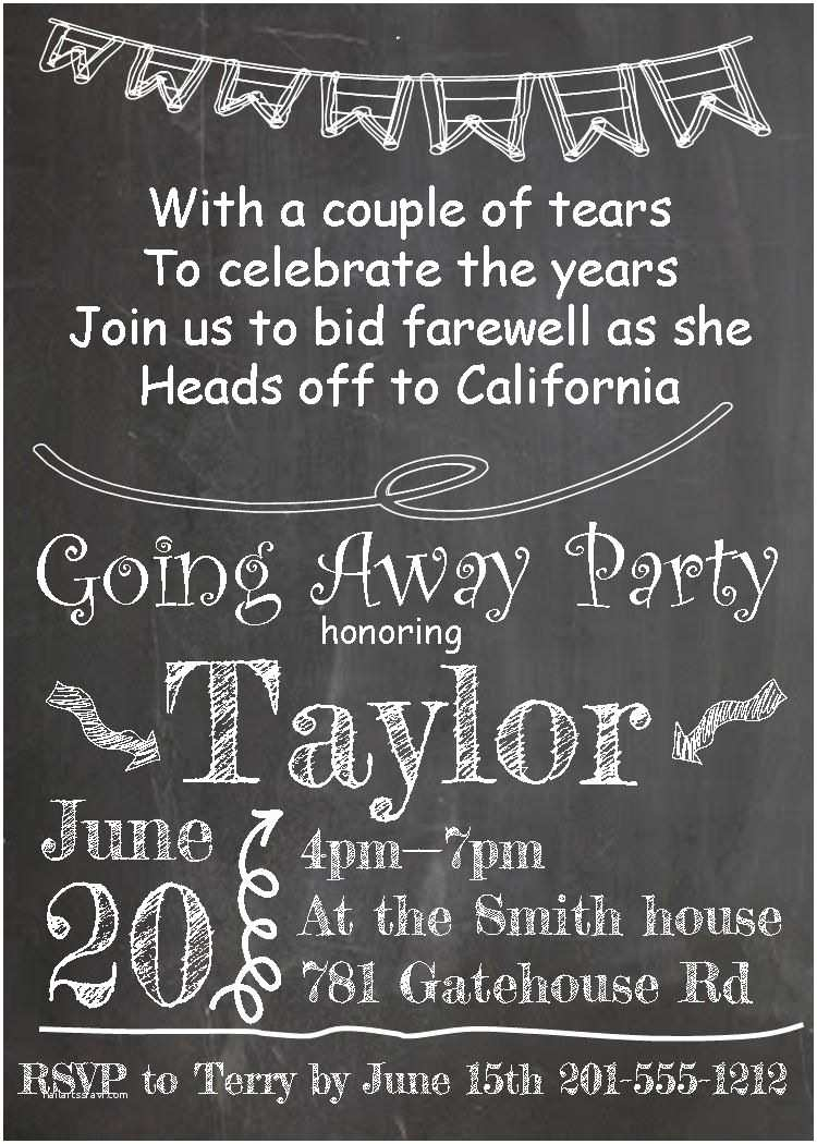 Going Away Party Invitation Wording Going Away Party Invitations New Selections Summer 2016
