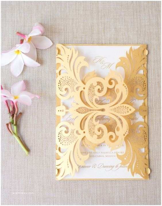 Gold And White Wedding Invitations 25 Best Ideas About Gold Wedding Invitations On