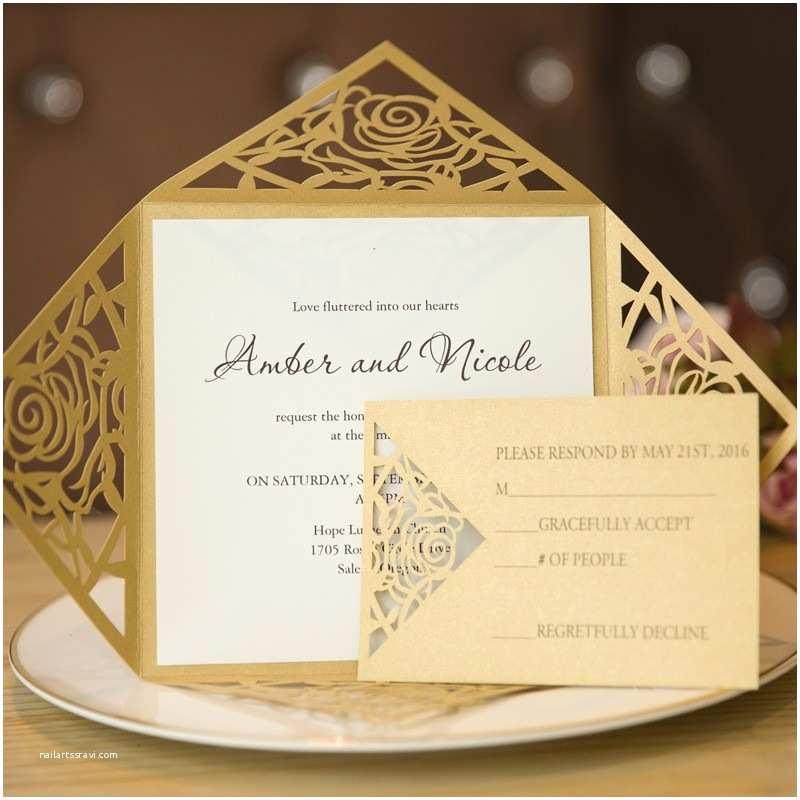 Gold and White Wedding Invitations Beautiful Gold and White Wedding Invitations