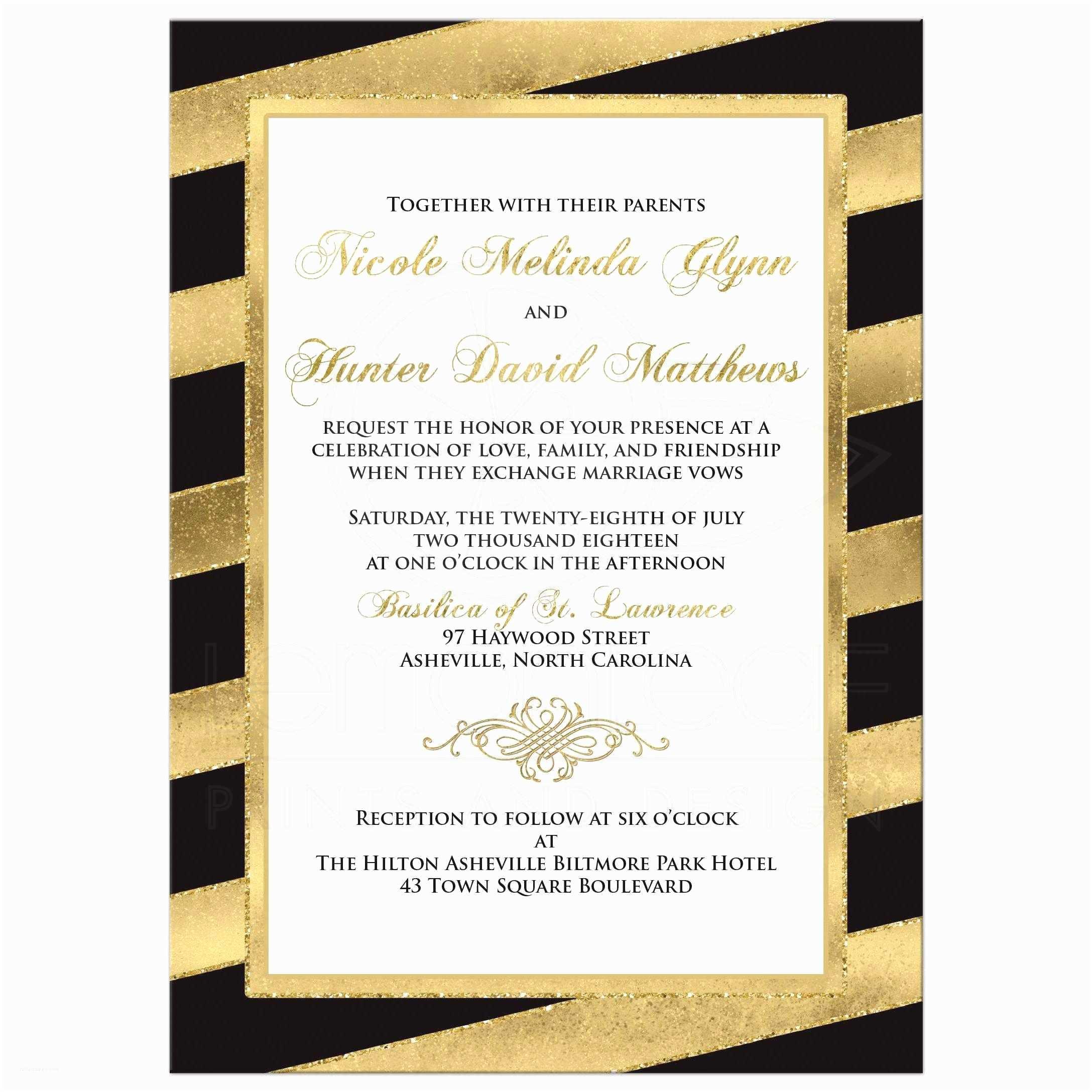 Gold And White Wedding S Bold Diagonal Stripes Wedding