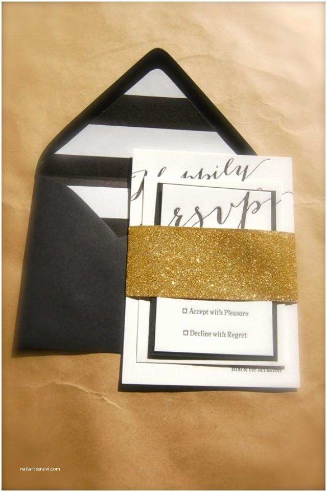 Gold And White Wedding  Gold Black And White Ivory Letterpress Wedding