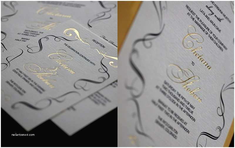 Gold and White Wedding Invitations Gold Black White Wedding Invitations Elegant