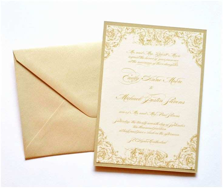 Gold And White  Invitations Gold  Invitations Gold And Ivory