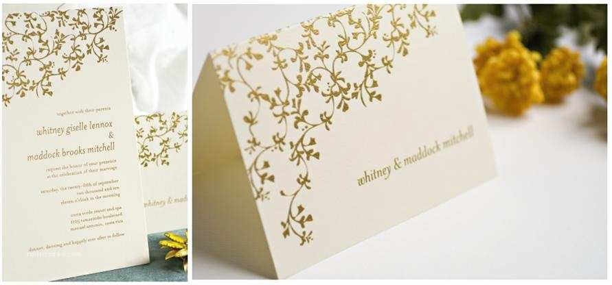 Gold And White Wedding Invitations Gorgeous Thermography Wedding Invitations Vibrant Gold