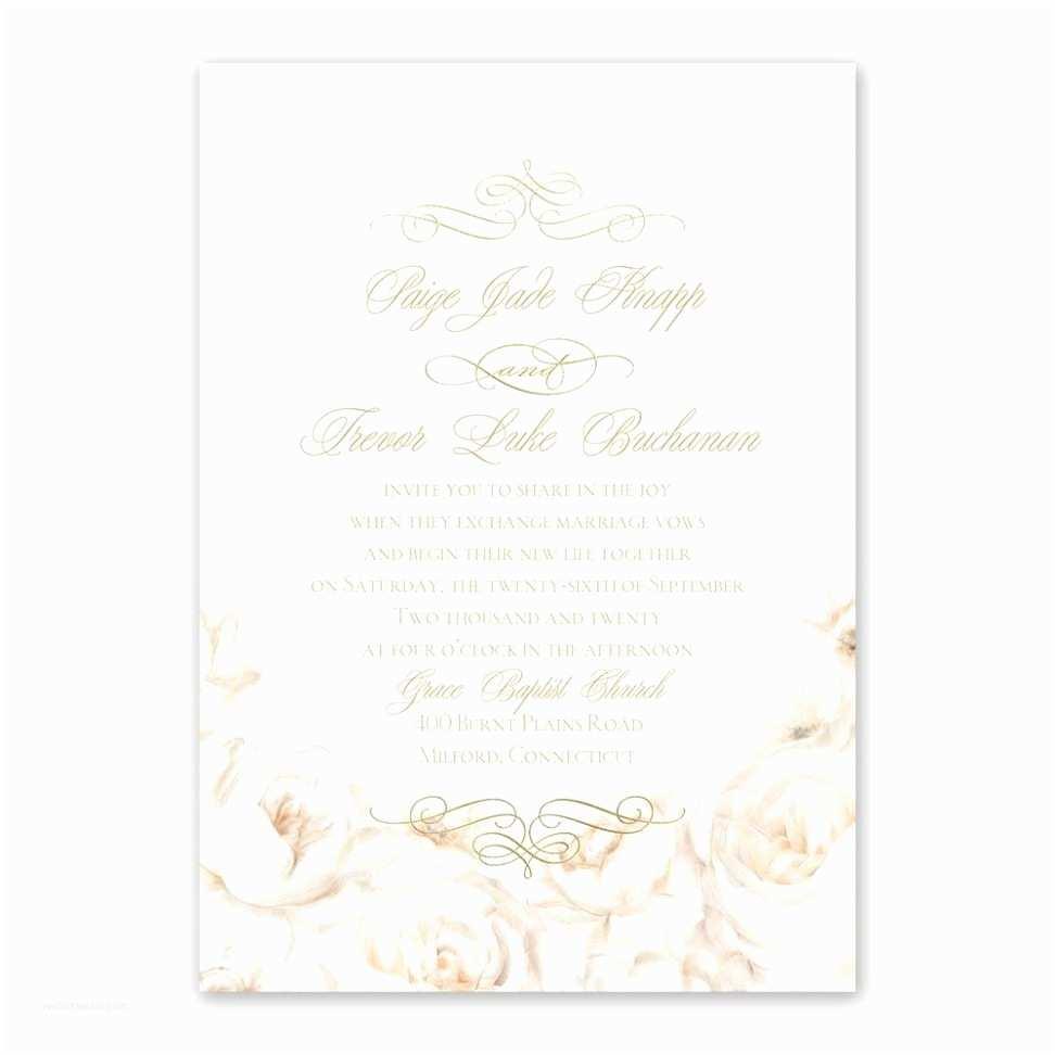 Gold And White  Invitations  Invitation Templates White And Gold