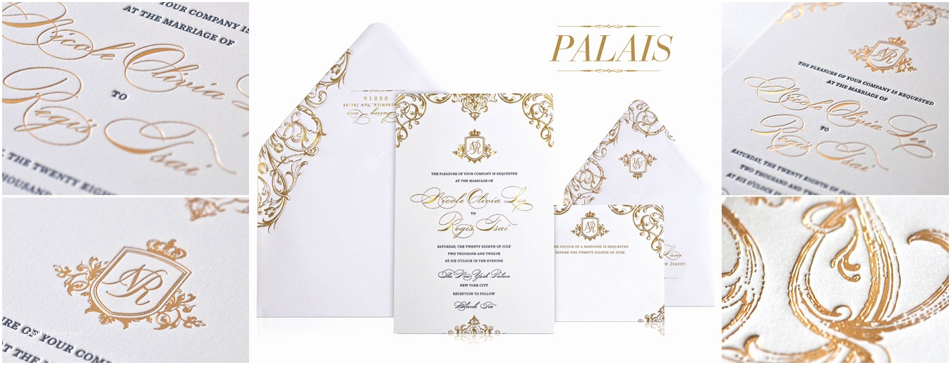 Gold and White Wedding Invitations White and Gold White and Gold Wedding Invitations