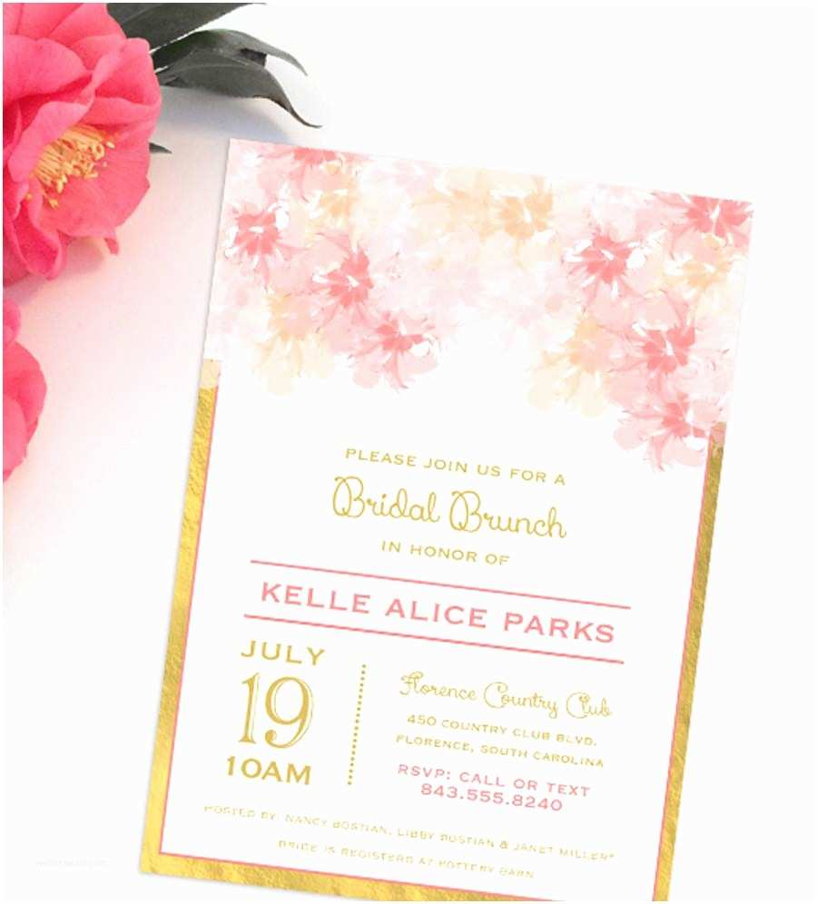 Gold Bridal Shower Invitations Blush and Gold Bridal Shower Invitations Blush and Gold