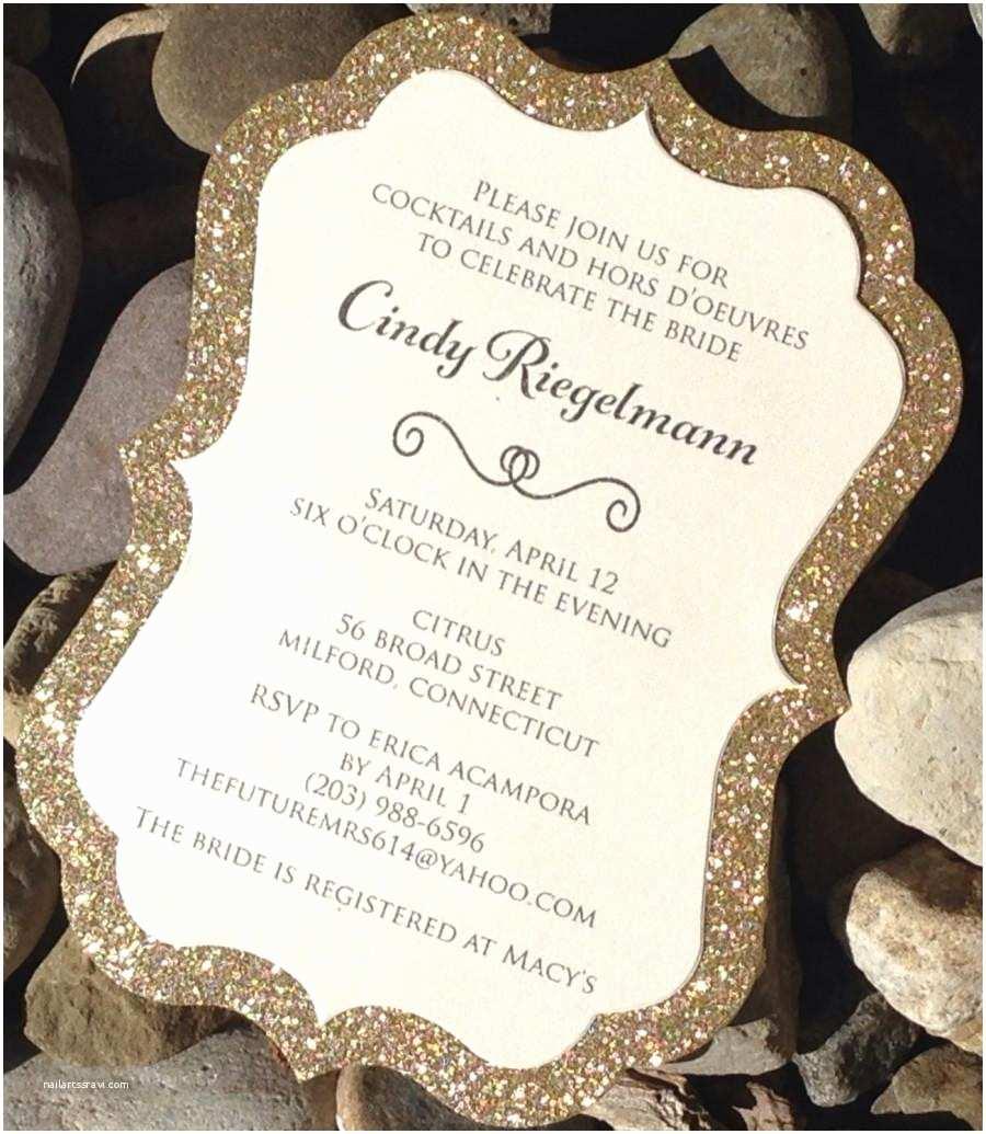 Gold Bridal Shower Invitations Bridal Shower Invitation Glitter Bridal Shower