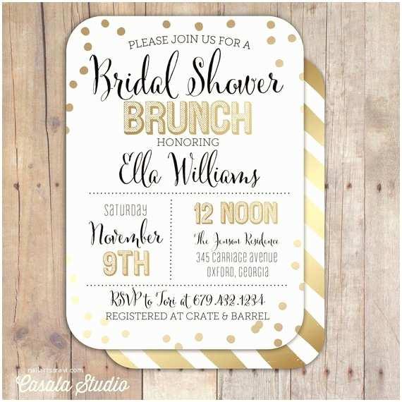 Gold Bridal Shower Invitations Items Similar to Gold Confetti Bridal Shower Baby Shower